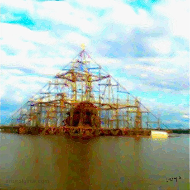 pyramid on amazon river