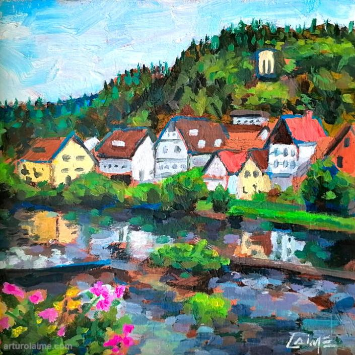 Gernsbach in Murg painting