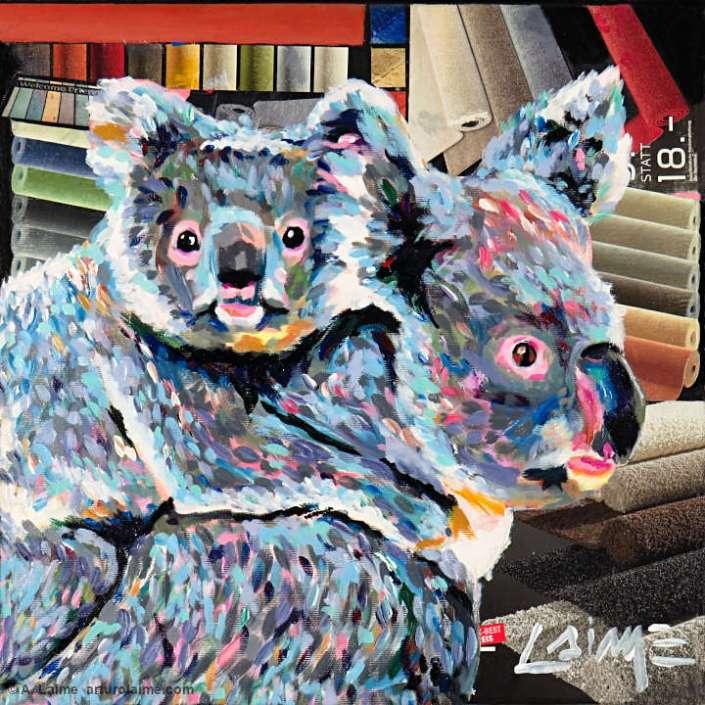 Koalas im Teppichladen Gemälde