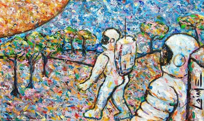 Die Pilger Gemälde