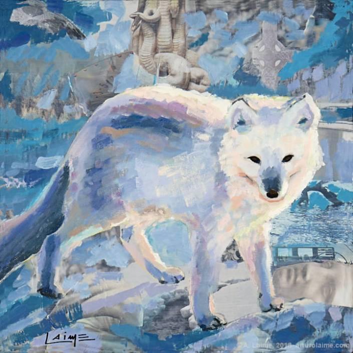 Polarfuchs Gemälde