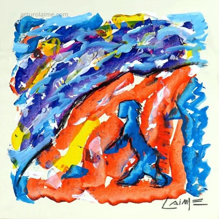 Bergsteigen painting