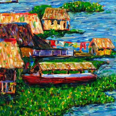 Gemälde Amazonia