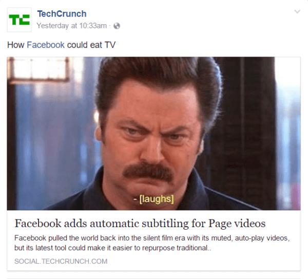 Subtítulos automáticos reportados por Techcrunch.