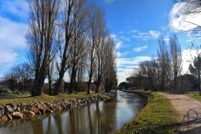 Canal del Duero con viento - Laguna de Duero
