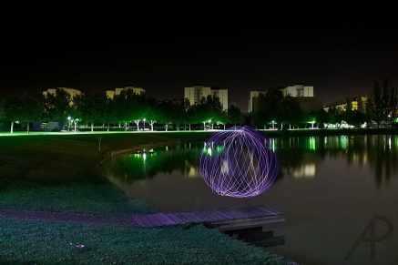 Light painting Lago curso