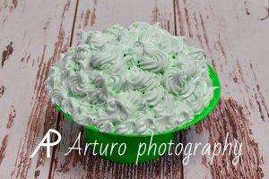 tarta verde smash cake
