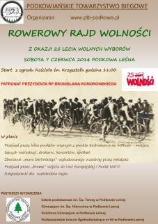 rowerowy rajd plakat