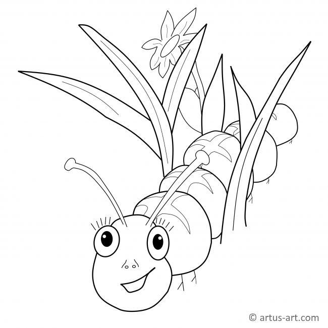 Caterpillar Coloring Page Printable Coloring Page Artus Art