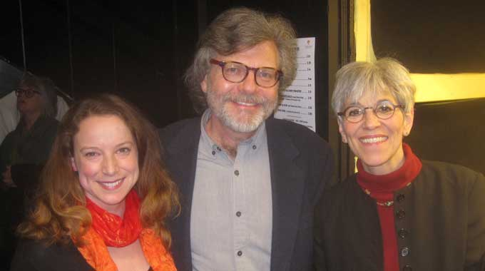 Cast member Elizabeth Oddy with director James Paul Ivey, and cast member Christina Rausa