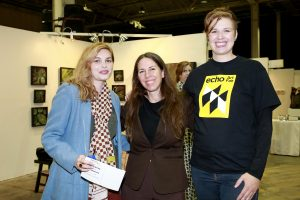 Jessica Buscaglia, Jody Hanson, Tara Sasiadek @ Echo Art Fair photo by Cheryl Gorski 3