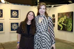 Jody Hanson, Tara Sasiadek @ Echo Art Fair photo by Cheryl Gorski 2
