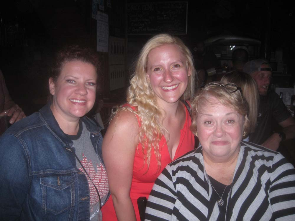 Cast members Jennifer Toohey who plays Mopsa, the clown's girlfriend, with Tracy Snyder who plays Dorcas,<a href=