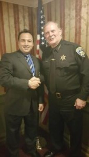 A. J. Verel Sheriff Tim Howard …sheriff will swear in Verel at Judges and Police event