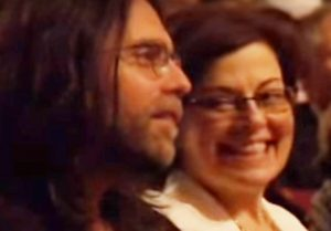 Keith Raniere and Nancy Salzman in the audience when the Dalai Lama appeared in Albany.