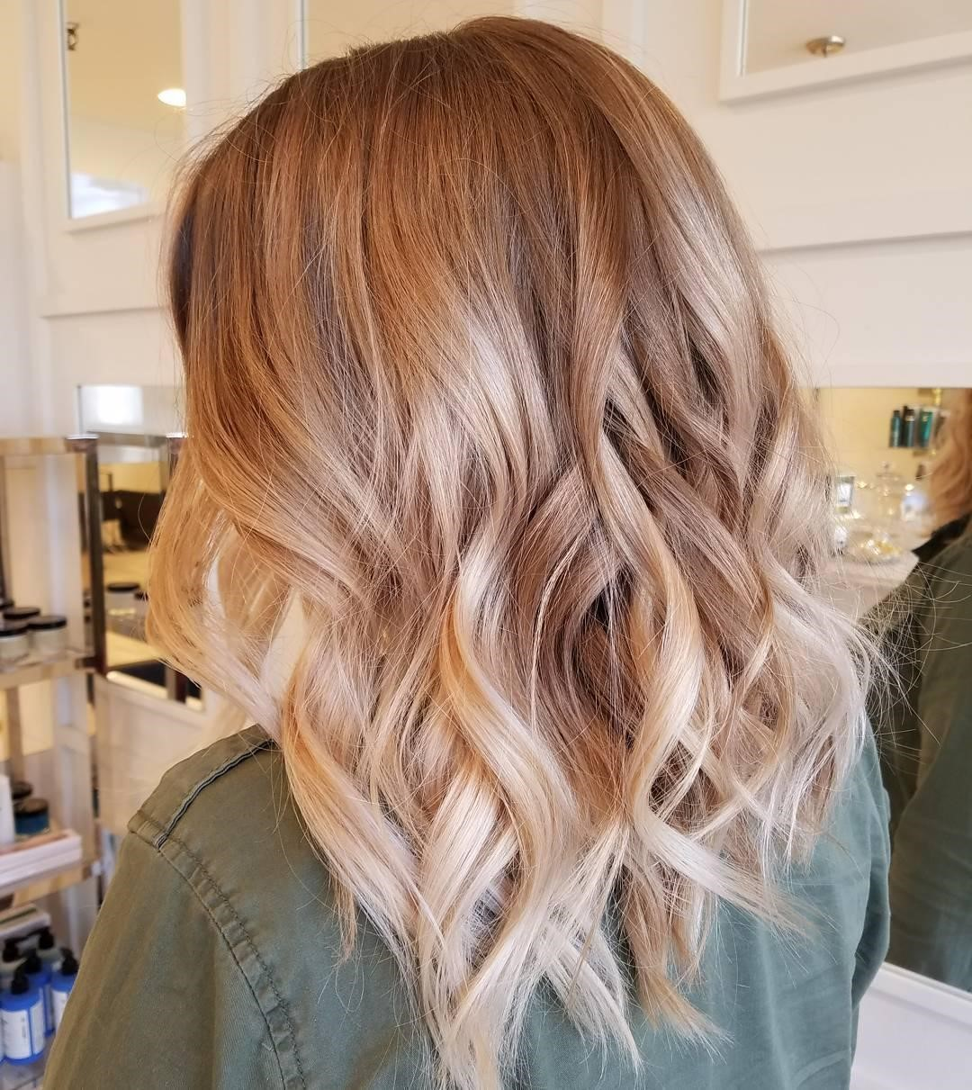 Balayage Strawberry Blonde Straight Hair Up To 72 Off Free Shipping
