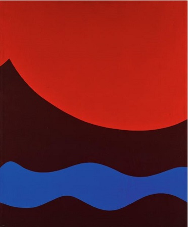 On Red No. 1 (1963), Mohamed Melehi (Moroccan, b.1936) sold for £75,000—almost 10 times its high estimates.