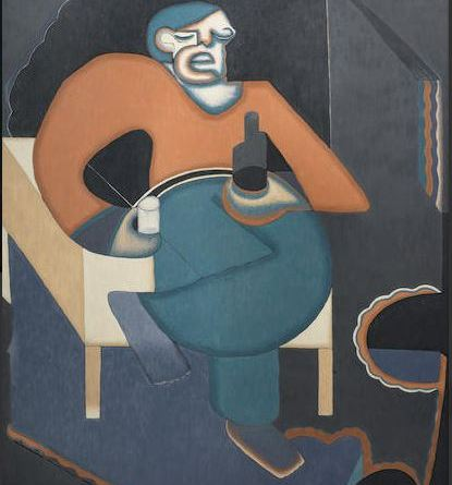 Uzo Egonu-Man with a glass of beer