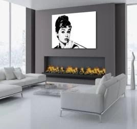 tableau noir et blanc cadre imprime