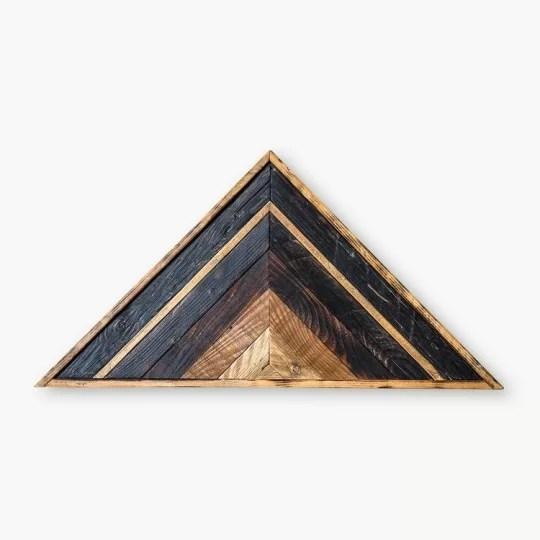 decoration bois triangle