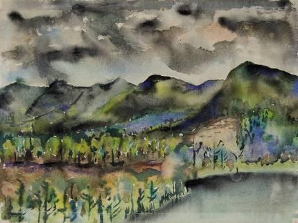 Joseph Fiore , Black Mountain, Lake Eden, 1954