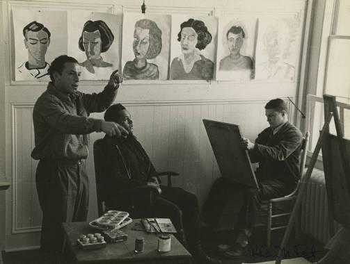 Xanti Schawinsky teaching a portraiture class, n.d.