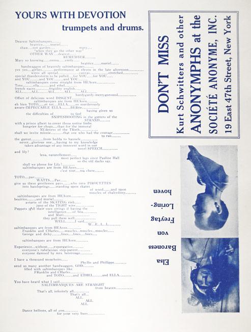 Marcel Duchamp / New York Dada (interior), April 1921 / Cover