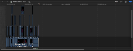 The final timeline fully zoomed out to show the project