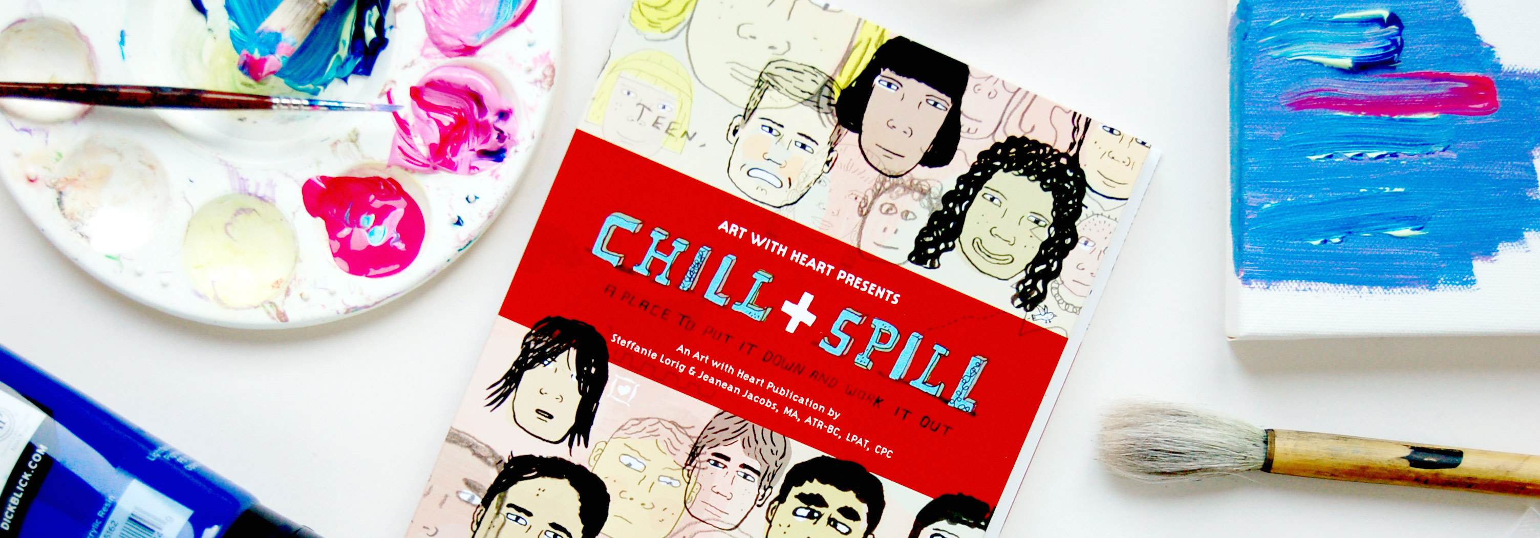 Chill & Spill Therapeutic Art Activity Book