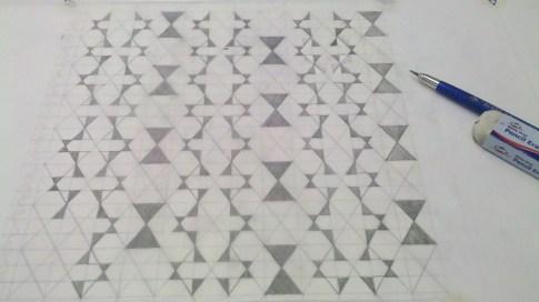 design project 1 detail of grid, Angela