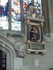 Shakespeare's funerary monument, Holy Trinity Church.