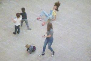 Children playing in Turbine Hall