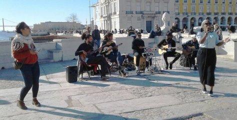 Nôs Raíz playing in Lisbon.