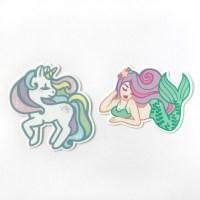 Unicorn and Mermaid Vinyl Stickers