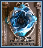 Custom Corpse Bride Barrette made by Living Dead Girl Nicole
