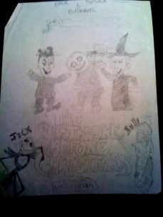 Nightmare Before Christmas art done by Living Dead Girl Nicole when she was 12
