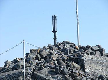 高千穂峰山頂部に突き立つ天逆鉾