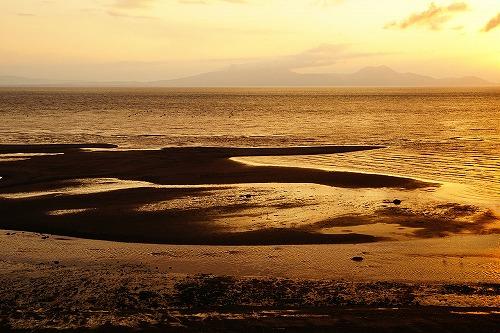 島原港近くの干潟