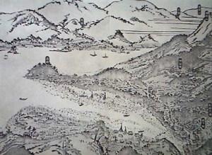 開港以前の長崎の岬