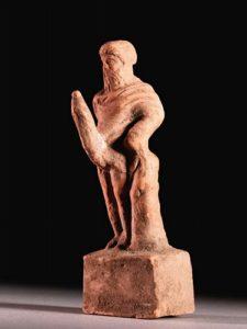 ギリシャのテラコッタのプリアーポス像