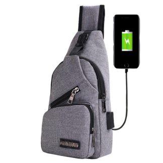 Рюкзак-сумка-кобура ArtX Cross Body Bag серый #090T
