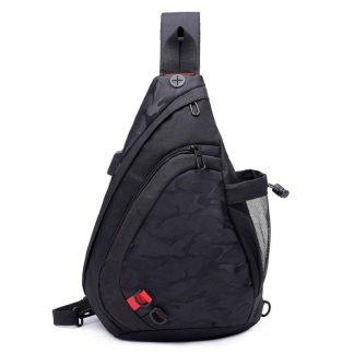 Рюкзак-сумка однолямочный ArtX Cross Body черный #95-1