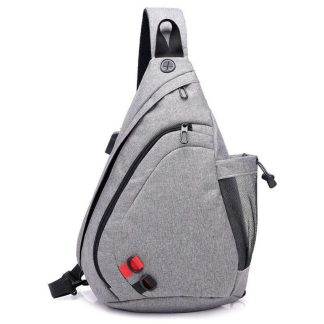 Рюкзак-сумка однолямочный ArtX Cross Body серый #095-4