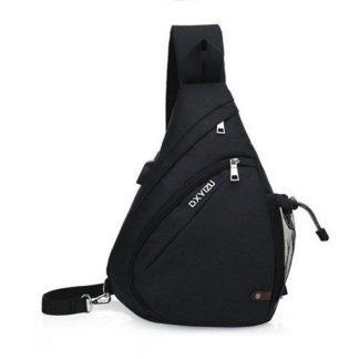 Рюкзак-сумка однолямочный ArtX Cross Body черный #095-5