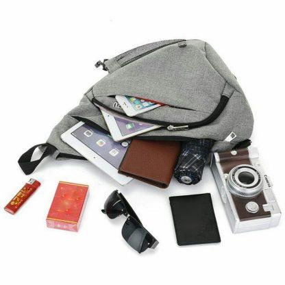 Рюкзак-сумка однолямочный ArtX Cross Body серый #95-6