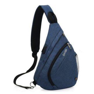 Рюкзак-сумка однолямочный ArtX Cross Body синий #95-7