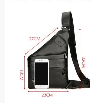 Сумка-невидимка ArtX Стелс кожаная черная #B3