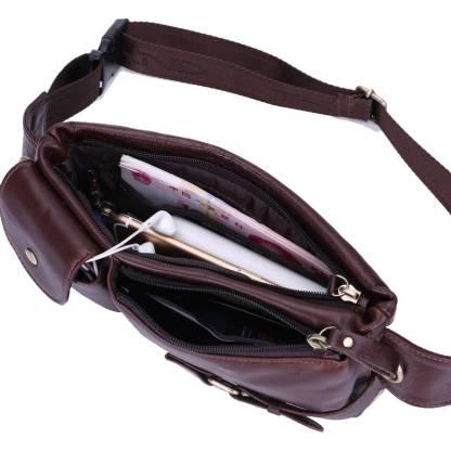Бананка ArtX Waist Bag #087-2 кожаная коричневая