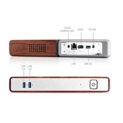 Мини ПК TV Box компьютер ArtX 8 GB RAM DDR3 64 GB eMMC + 128 GB SSD Windows 10 x64 #AA-B4