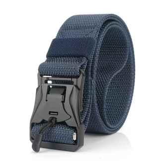 Ремень с магнитной быстроразъемной пряжкой ArtX Python синий #331-4